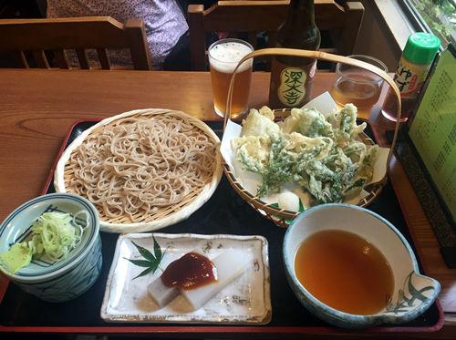 野草天ぷらと蕎麦セット