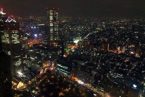 新宿側の夜景